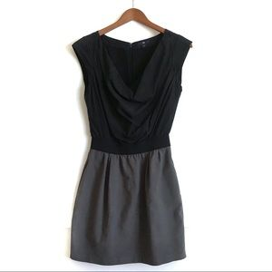 GAP Colorblock Shift Dress Black and Grey Sz 2